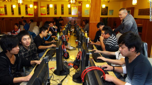 An Internet cafe in Zhejiang with some of China's more than 600 million Internet users.