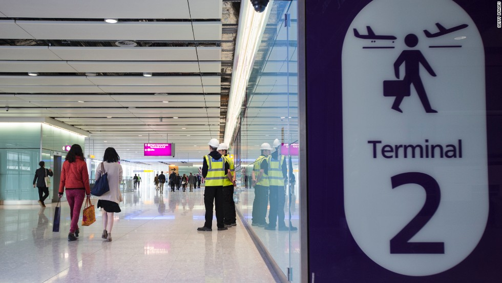 Britain's Queen Elizabeth II will officially open Heathrow's Terminal 2 in June.