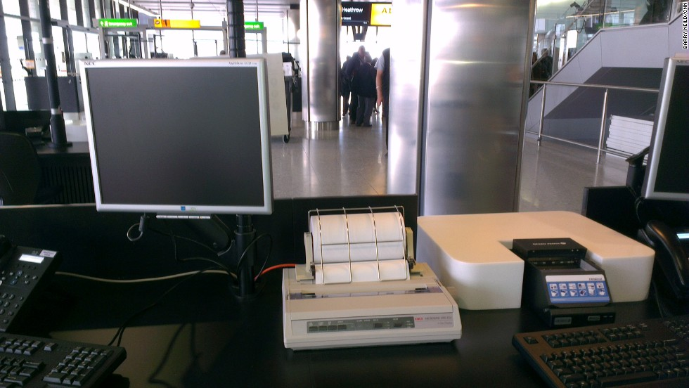 No brand new terminal is complete without a state of the art dot matrix printer.