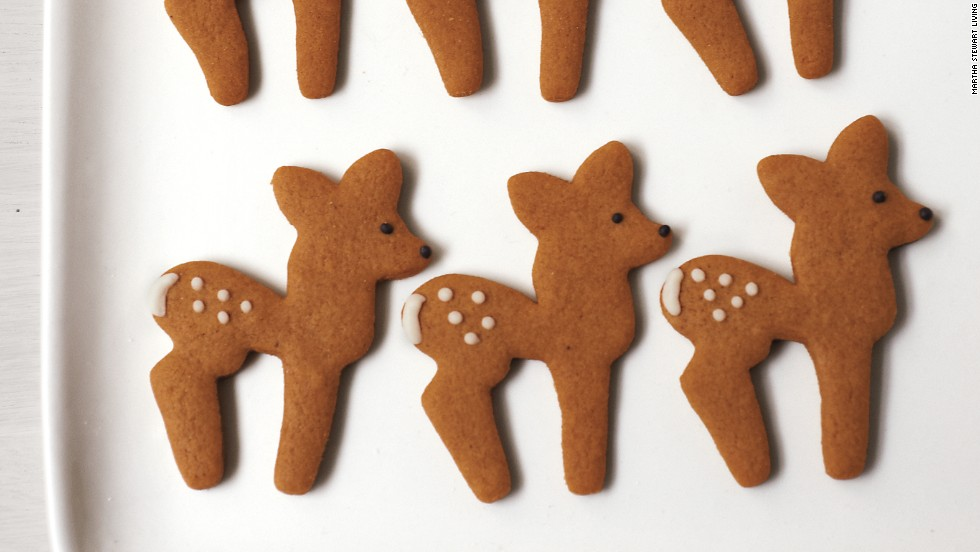 Deer-shaped cookies were among the tasty treats at the shower.