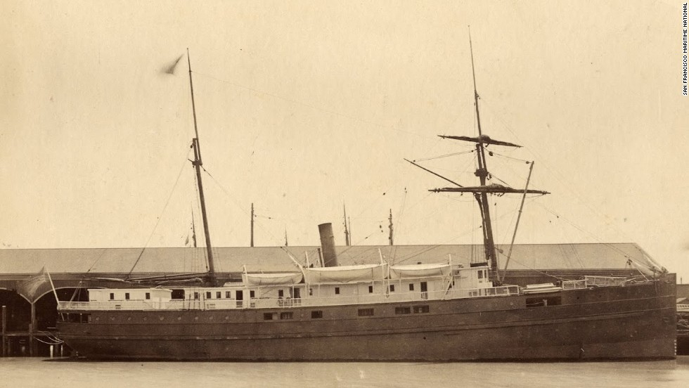 NOAA announced on Wednesday, April 23, it has found the underwater wreck of the passenger steamer City of Chester, which sank in 1888 in a collision in dense fog near where the Golden Gate Bridge stands today.