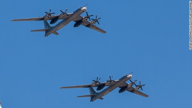 "The Russian TU-95 ""Bear"" is a large, four-engine turboprop-powered strategic bomber and missile platform."