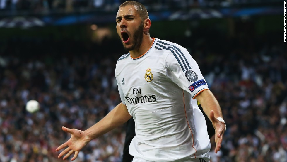 Karim Benzema's first half strike for Real Madrid was the only goal in a Champions League semi-final match that pulsated with attacking play at Real's Bernabeu Stadium.