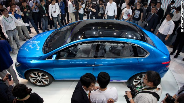 The Denza electric car concept was first unveiled at Auto China 2012.