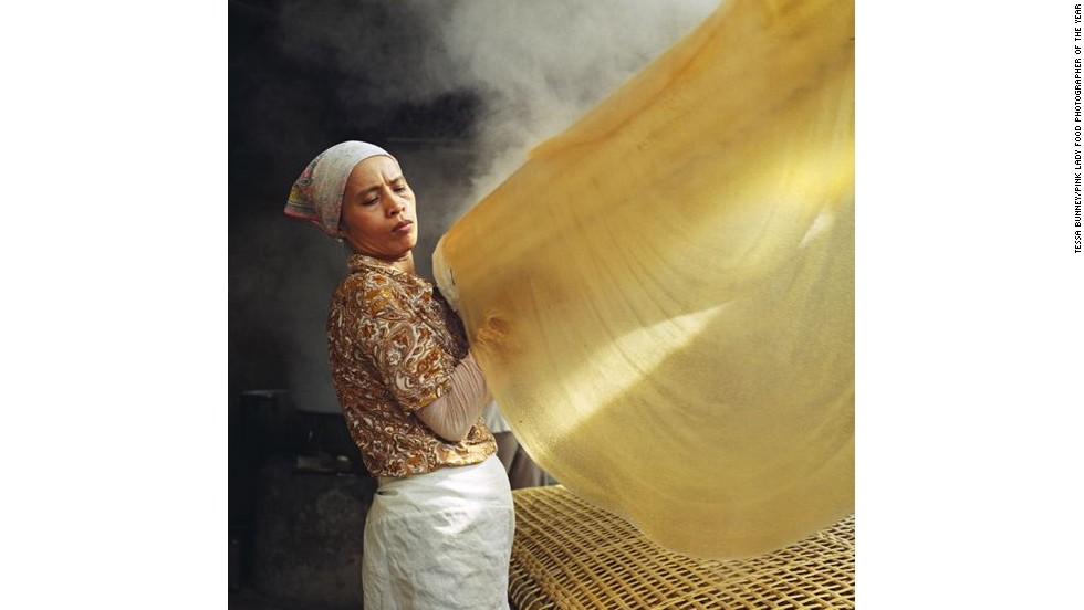 Tessa Bunney's winning image in this year's Pink Lady Food Photographer of the Year competition shows a woman making noodles in a village in Vietnam.