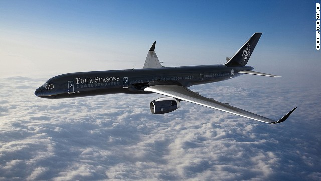 The Four Seasons' new jet, which takes flight in February 2015, is a Boeing 757. The luxury hotel brand says it will be fitted out with 52 seats in a 2-2 configuration.