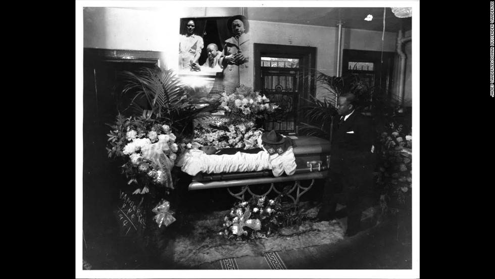 The photographs of funerals, such as this one for a Boy Scout in 1941, became an ode to past lives.