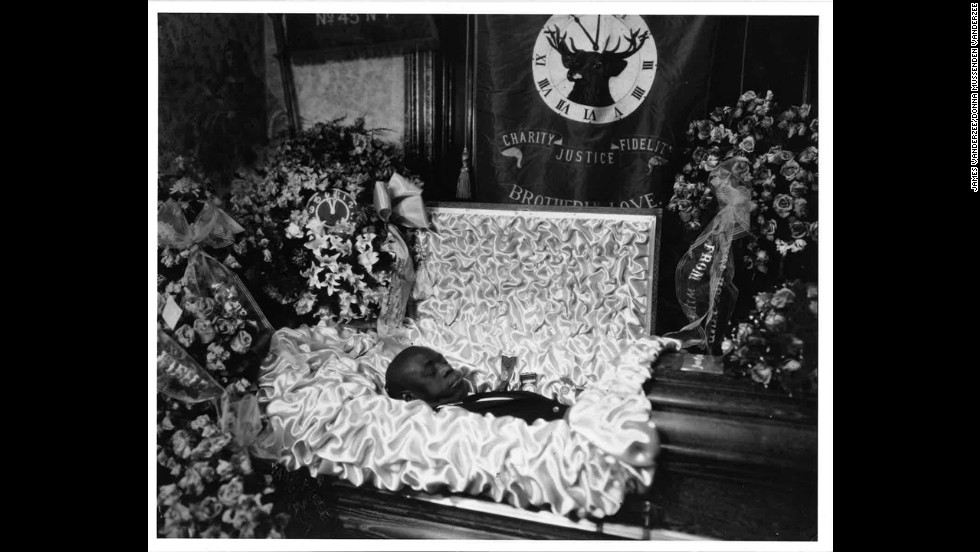 VanDerZee took great care with his postmortem photography. He even chose the objects that were placed around his subjects.