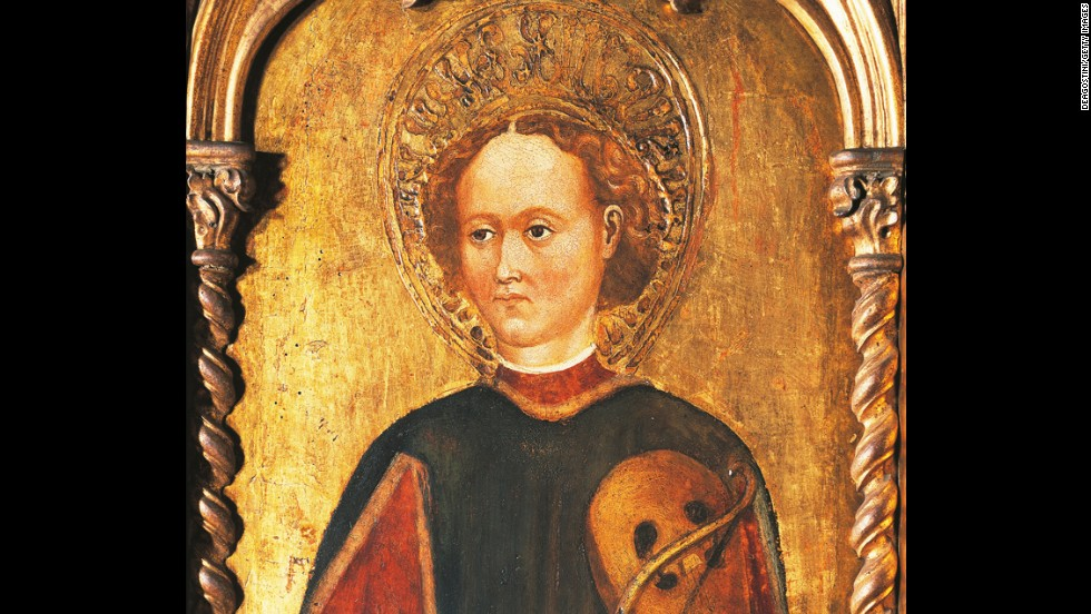 St. Genesius is the patron saint of actors -- and of torture victims. Legend has it that Genesius converted to Christianity while performing a satirical play about Catholic sacraments. The Emperor Diocletian had him tortured and put to death.