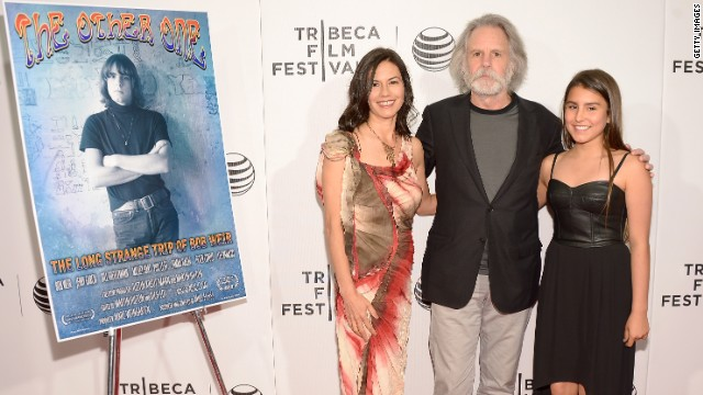 Grateful Dead guitarist Bob Weir attends the Tribeca Film Festival with wife Natascha and daughter Chloe.