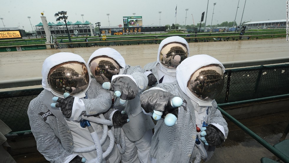 Spectators come in all shapes and sizes each, including a quartet of AXE astronauts in attendance at the event a year ago.