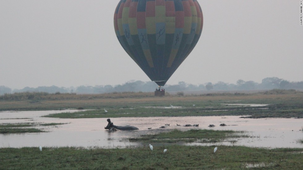 Located in Kafue, Zambia's oldest and largest national park, the Busanga Plains are known for vast herds, diverse species and healthy populations of large animals. Wildlife can be seen up close from hot air balloons.