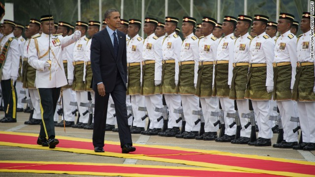 President Obama arrives in Malaysia