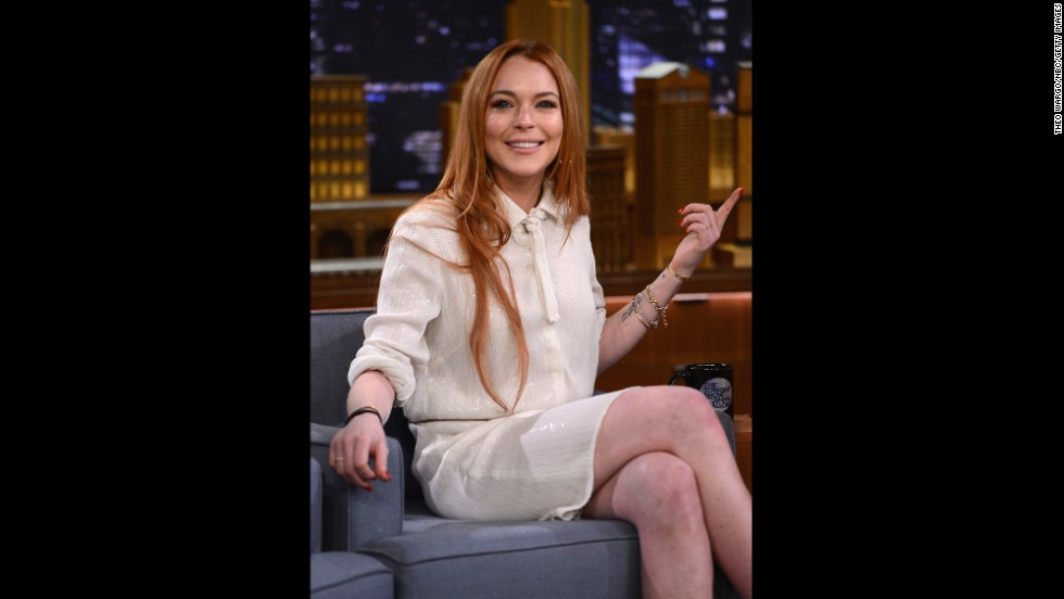 """In the years since """"Mean Girls"""" was released, Lohan has become as well-known for her appearances in the courtroom as in films. In 2014 she embarked on a comeback attempt that included a docu-series on OWN and appearances like this one on """"The Tonight Show Starring Jimmy Fallon."""""""