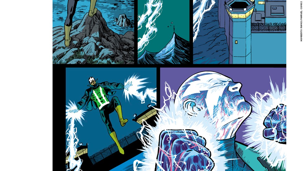 "More of Electro's appearance in ""Amazing Spider-Man"" #1."