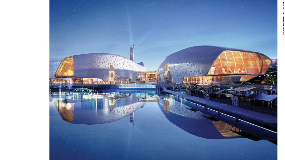 Australian studio Cox Rayner Architects won the World Architecture Festival 2013 for this design of the National Maritime Museum of China due to be completed in 2015 in Tianjin.