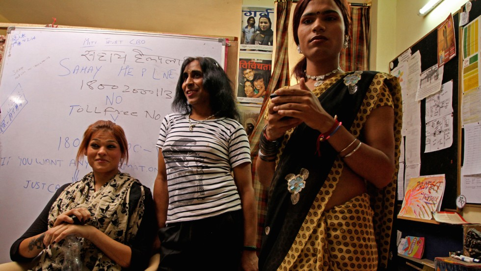 "India's transgender community can now hope for a better future after it was recently granted an official ""third gender"" status. (Photo credit: Omar Khan)"