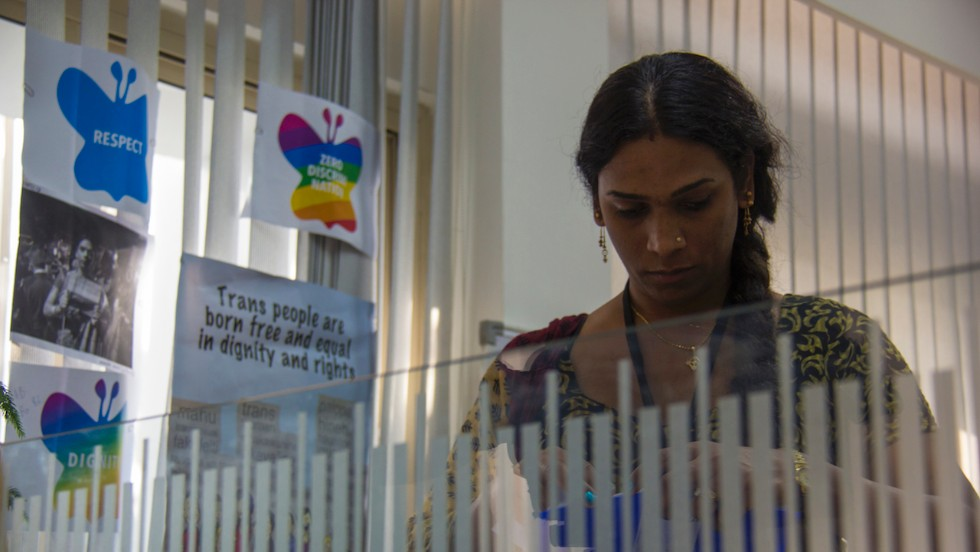 There are limited job opportunities available to the community in India. Transgender Abhina Aher, 37, says many are forced to live off dancing at family occasions, begging and prostitution. (Photo credit: Omar Khan)
