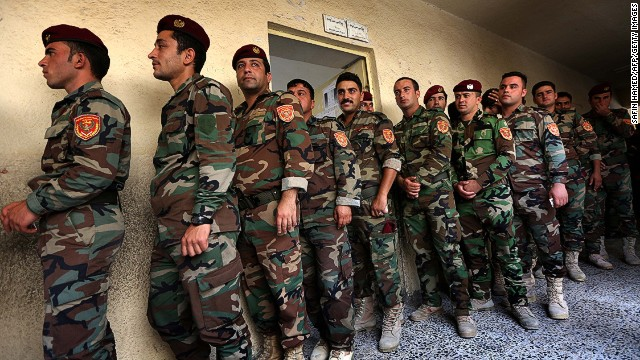 File photo: Iraqi troops wait prior to cast their ballots in special voting ahead of Iraq's elections in northern Iraq.