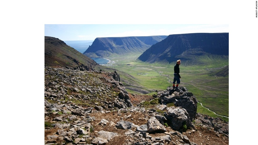 Six hours by road from Reykjavik, the Westfjords is a lonely peninsula that juts into the Denmark Strait. Bolafjall mountain (pictured) offers views to Greenland on clear days. Don't get too excited -- there aren't many clear days.