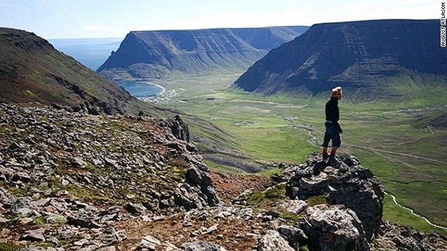 Bolafjall mountain, Westfjords, Iceland.