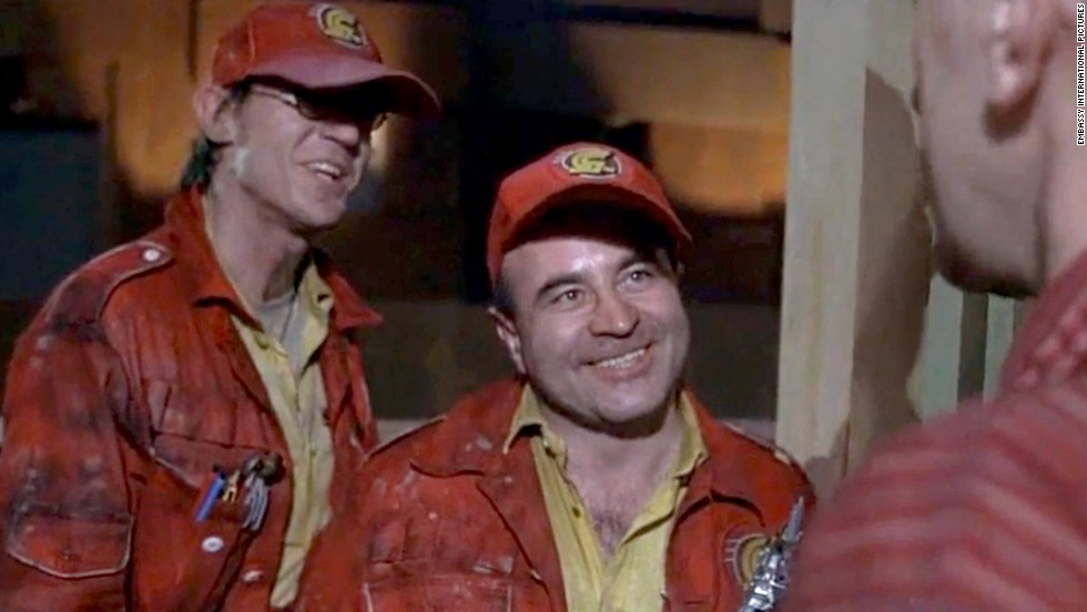 "In 1985's<strong> ""Brazil,""</strong> Hoskins, here with Derrick O'Connor, left, plays a repairman from the bureaucratic and dysfunctional Central Services who's sent to fix a ventilation system."