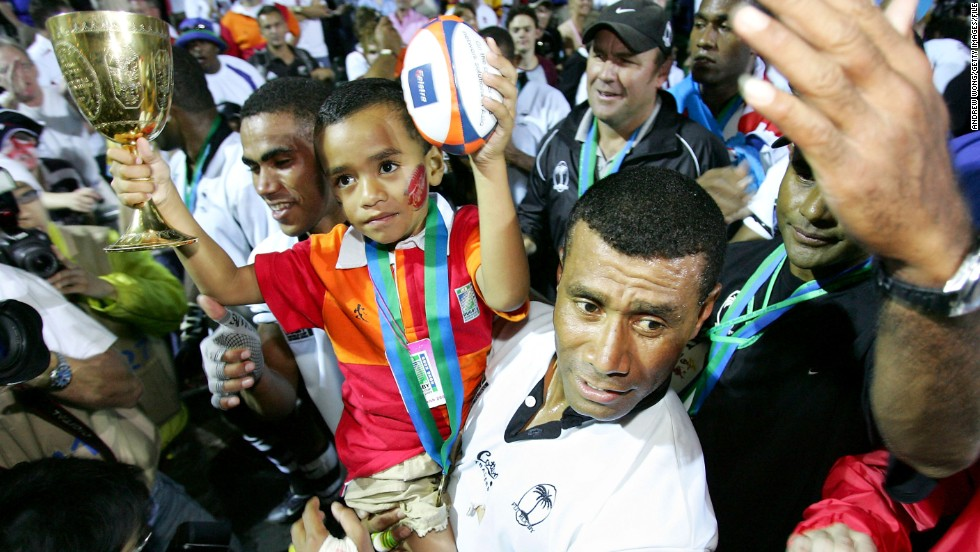 His career included two World Cup Sevens triumphs, the highlight of Serevi's career. The first came in 1997, while Serevi was able to celebrate the second, in 2005, with his young son.
