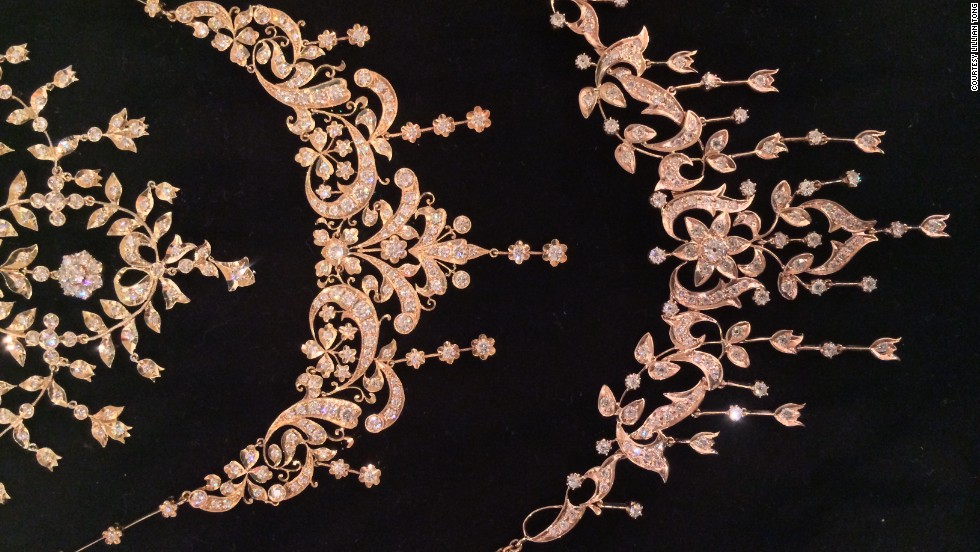 The Peranakans, as they were also known, were wealthy families of Chinese-Malay descent who, by the end of the 19th century, created a society that fused Asian and European influences. This necklace with a tulip design is an example of the melange of cultures borne from their history under the Malay sultanate and Portuguese, Dutch and British rule.