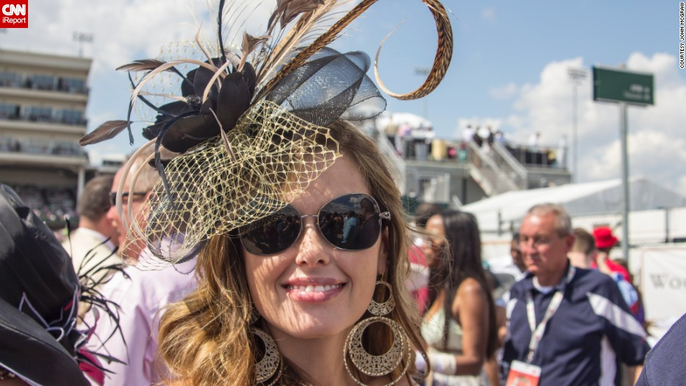 """This reminded me of a hat you might see at a royal wedding or a polo match or, of course, at the Kentucky Derby."""