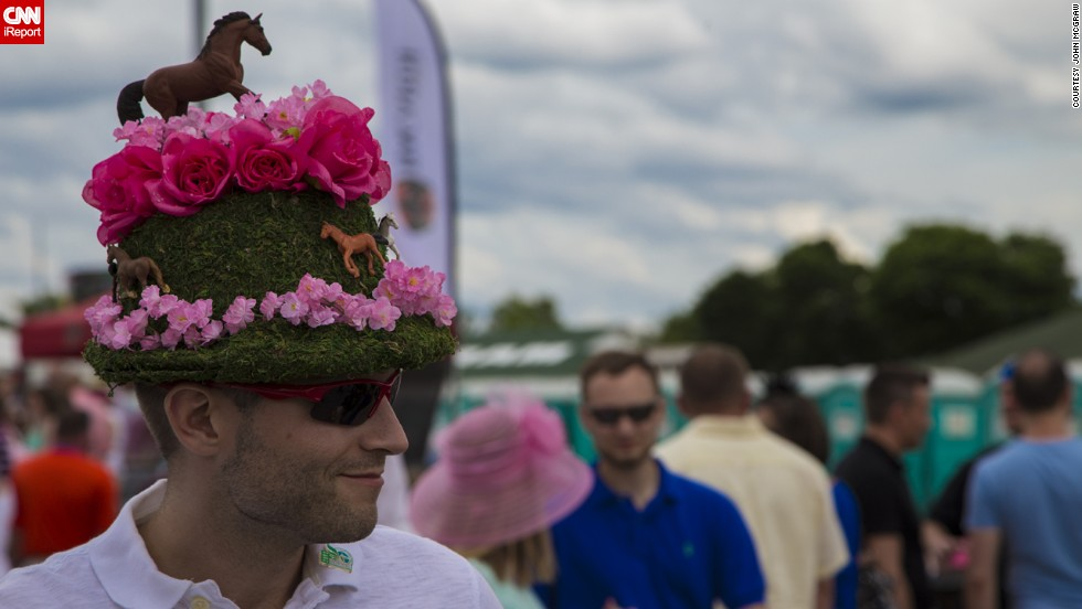 Although wearing a hat to the races has been a longstanding tradition for women, more men have been sporting them in recent years.