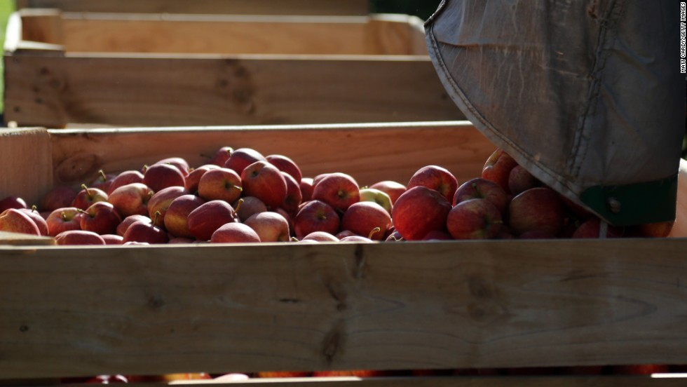 Apples came in at No. 2 after having been a list leader for the past five years. More than 98% of the apples, strawberries, peaches and nectarines tested by the USDA tested positive for residue of at least one pesticide, EWG said.