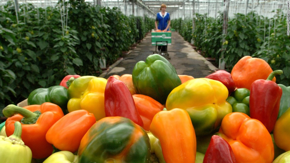 Sweet bell peppers make the No. 10 spot on the list. Hot peppers may also have pesticide, but they only made EWG's expanded list.