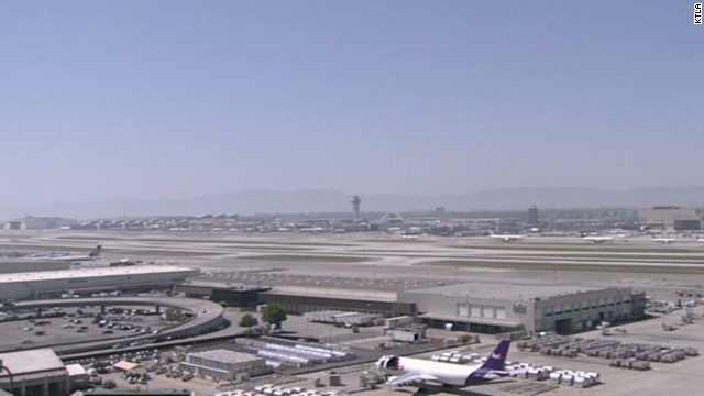 Flights stopped at LAX