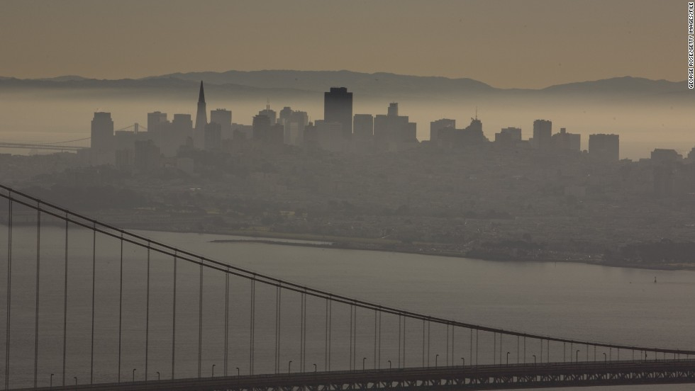 "A <a href=""http://www.latimes.com/science/la-top-10-most-polluted-cities-20140430-html,0,3083737.htmlstory#axzz30OAKFu88"" target=""_blank"">2014 report</a> ranks cities that have the worst air quality. San Francisco, California, is among them."
