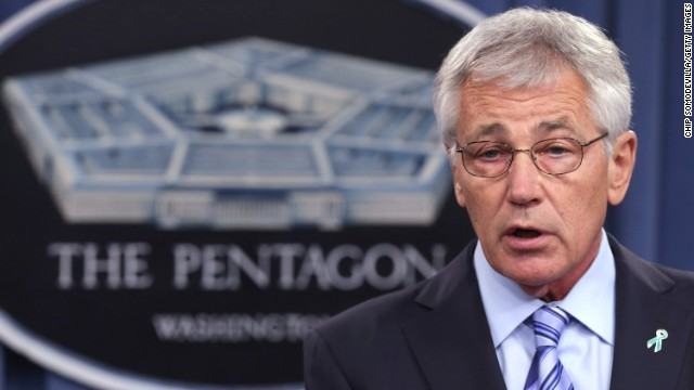 ARLINGTON, VA - MAY 01: U.S. Defense Secretary Chuck Hagel delivers remarks about the Defense Department's sexual assault prevention and response program at the Pentagon May 1, 2014 in Arlington, Virginia. Reports of sexual assaults by members of the military rose by 50 percent. Pentagon officials said they believe the increase is because of a vigorous campaign to get more victims to to report the crimes and not because of a real rise in the number of assaults. (Photo by Chip Somodevilla/Getty Images)