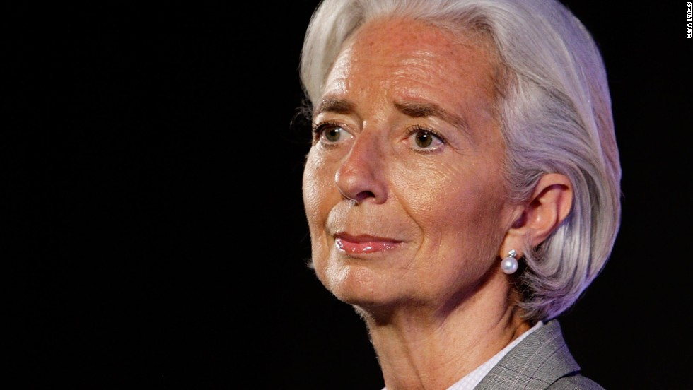 "<strong><a href=""http://edition.cnn.com/2013/01/02/world/christine-lagarde---fast-facts/"">Christine Lagarde</a><strong></strong> </strong>-- Lawyer and Managing Director of the <a href=""http://www.imf.org/external/index.htm"" target=""_blank"">International Monetary Fund</a>. In 2007 Lagarde became the first female<a href=""http://www.ambafrance-in.org/IMG/pdf_bio-data-Lagarde.pdf"" target=""_blank""> Minister of Finance, Economy and Trade</a> in France, nominated by <a href=""https://twitter.com/elisacnn"" target=""_blank"">Elisa Berkowitz</a>, Executive Producer for CNN International shows including Leading Women and Vital Signs with Dr Sanjay Gupta."