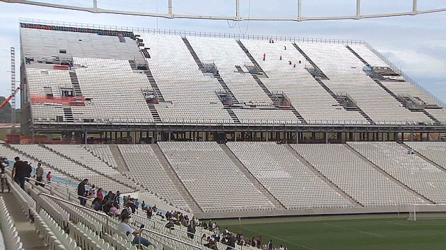 Test match held at Sao Paulo stadium