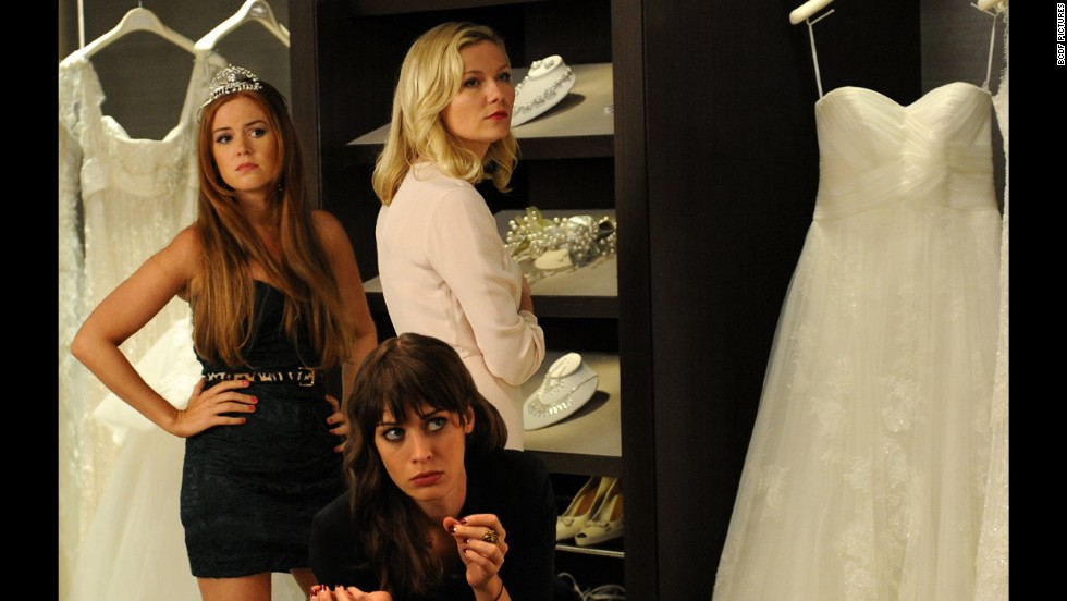 <strong>Bachelorette:</strong> A tip -- frenemies don't make good bridesmaids. In this 2012 film, Isla Fisher, left, Lizzy Caplan, center, and Kirsten Dunst are members of the wedding party of a woman they used to taunt in high school, and find that little has changed.