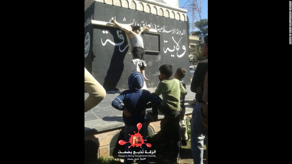 The crucifixion displays began in March, when ISIS accused a shepherd of murder and theft, then shot him in the head and tied his lifeless body to a wooden cross.