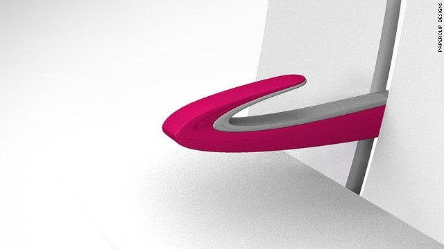 The Paperclip Armrest is an award-winning design that allows two people to share space on an airplane.