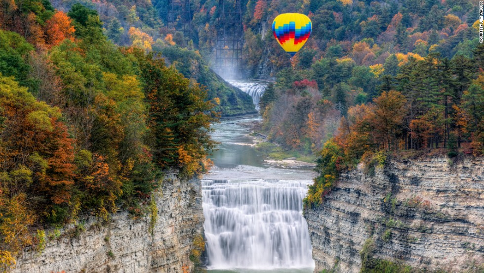 Spot the towering slate cliffs of the through the Letchworth Gorge. September is the time to spot the changing foliage.