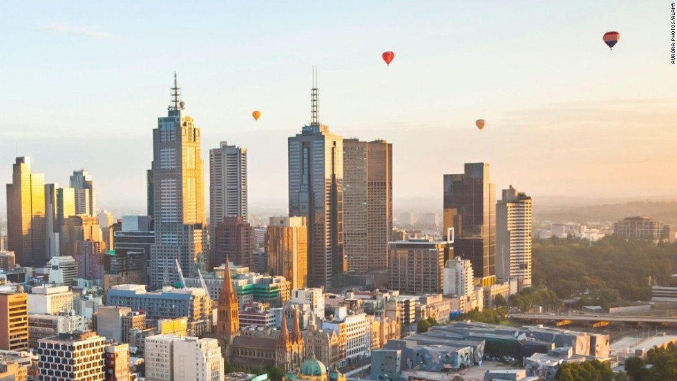 """The average life expectancy of citizens living in the top 25 cities in the Index is 81 years, compared with 75 years for those living cities in the bottom half of the table,"" reads the report. ""The biggest gap is between Melbourne, Australia [pictured] and Johannesburg, South Africa (86 years vs. 60 years)."""