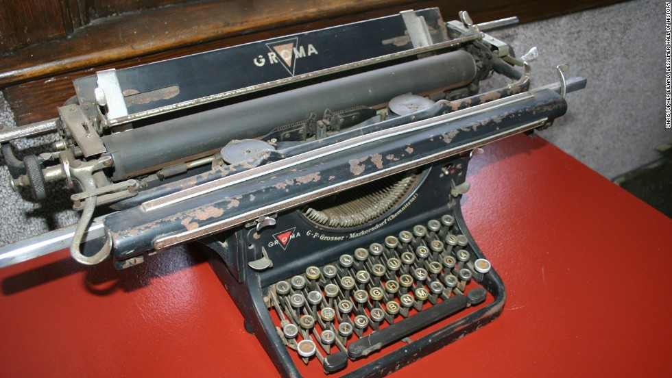 "According to the Bessemer Hall of History Museum in Alabama, this typewriter came from Adolf Hitler's  ""Eagle's Nest"" near Salzburg, Austria. It was brought to the United States by a soldier assigned to the mountain retreat after the war."