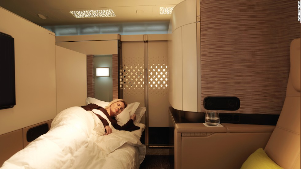 The A380 has proved a hit with passengers, particularly premium ticket-holders wowed by the comfort levels available. Ethiad was the first airline to offer fully private suites with a separate reclining lounge seat and full-length bed.