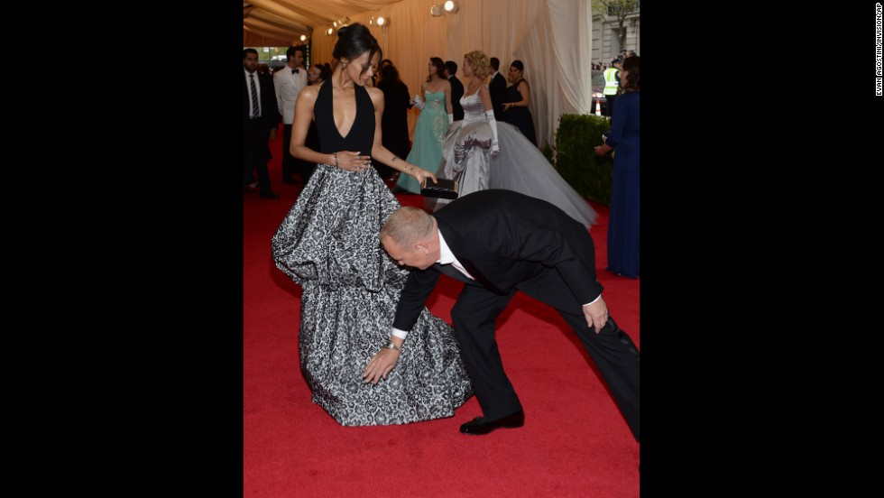 Zoe Saldana and designer Michael Kors
