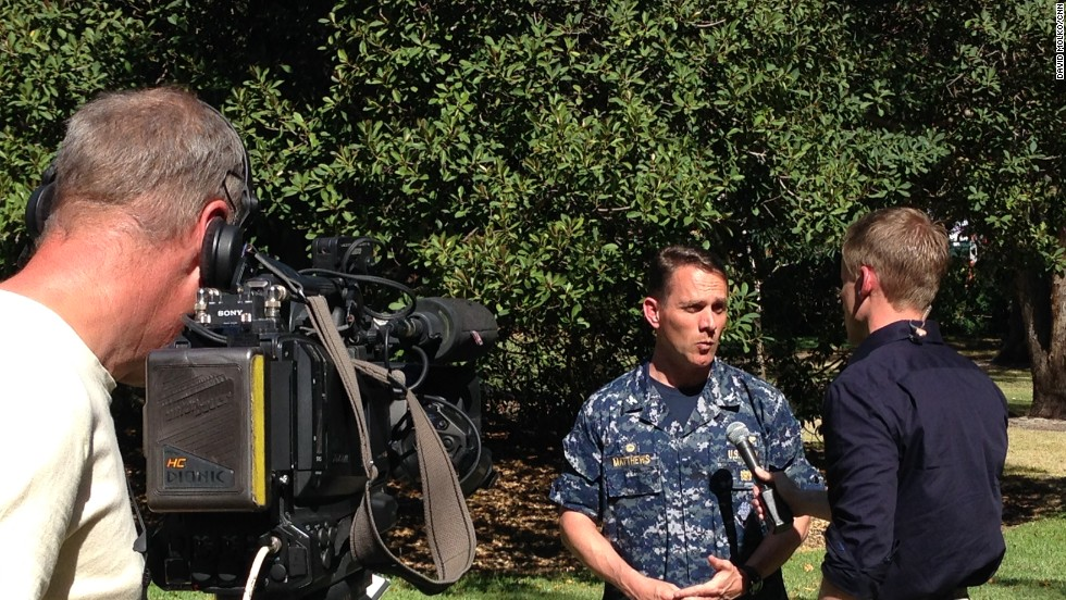 Day 33 -- Will Ripley interviews Captain Mark Matthews, U.S. Navy, about the pings detected by the Ocean Shield in the search zone.