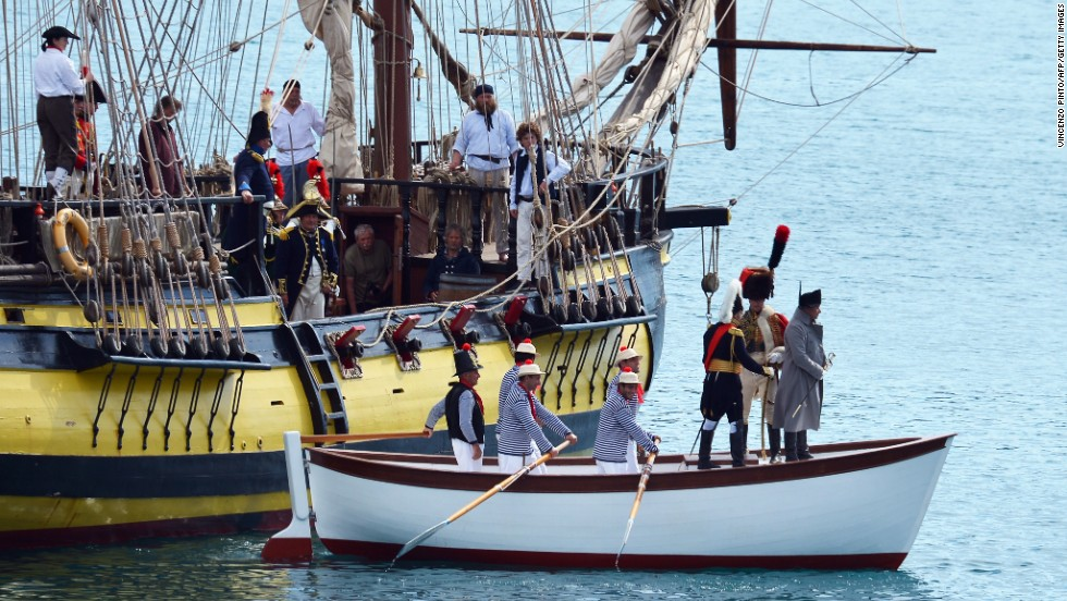 The Italian island of Elba celebrates the 200th anniversary of Napoleon's exile to the island with a large-scale reenactment of the emperor's arrival.