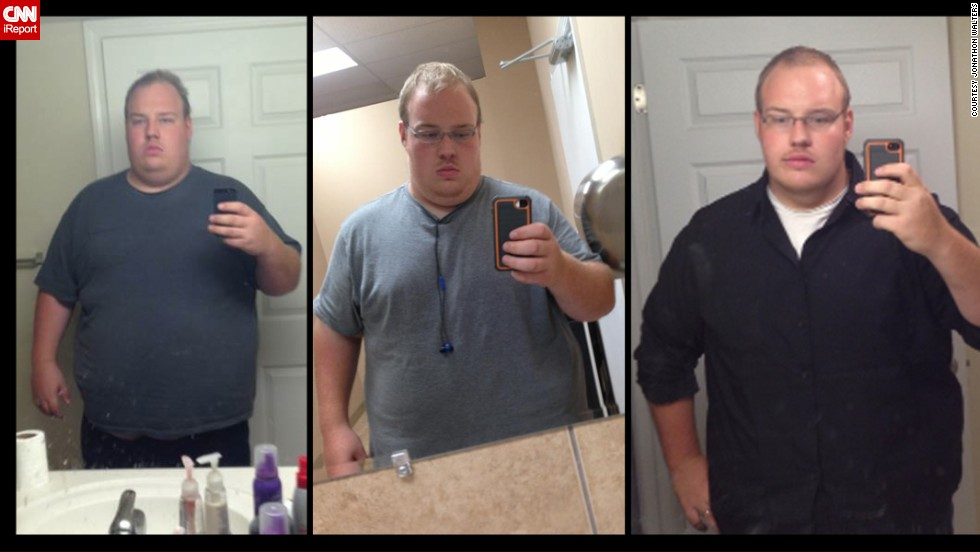 Walters started walking short distances last summer. Soon, he was up to 3 miles a day and was down 50 pounds.