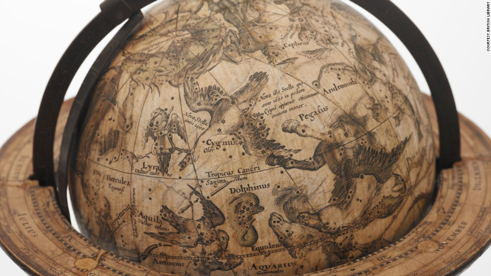 This celestial globe was made in the early 1600s by famed Dutch cartographer Willem Blaeu.