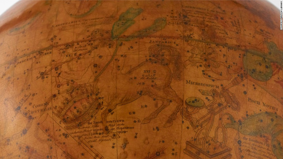 This 1772 celestial globe pays homage to the hottest tech trends of its time with call outs to constellations like Microscopium and Telescopium.